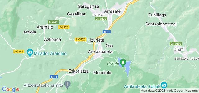 Mapa de Aretxabaleta