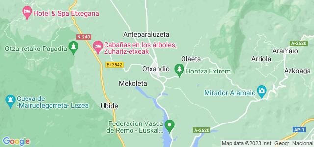 Mapa de Otxandio