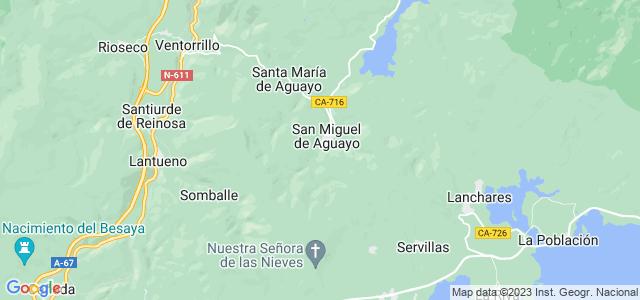 Mapa de San Miguel de Aguayo