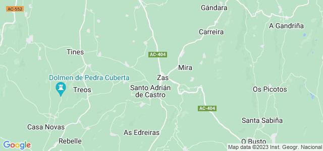 Mapa de Zas