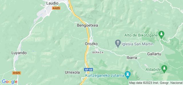 Mapa de Orozko