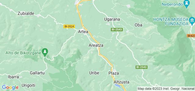 Mapa de Areatza