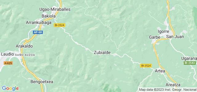 Mapa de Zeberio