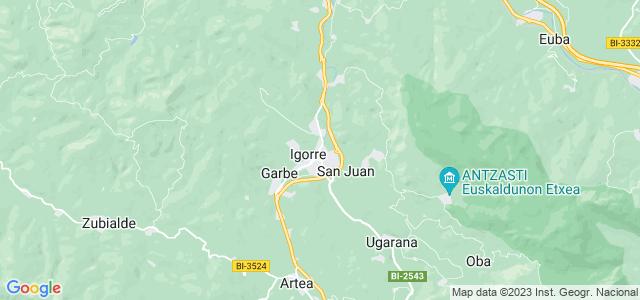 Mapa de Igorre