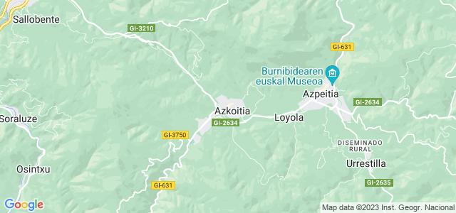 Mapa de Azkoitia