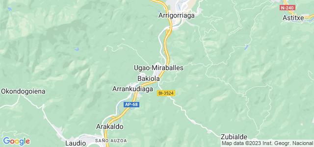 Mapa de Ugao-Miraballes