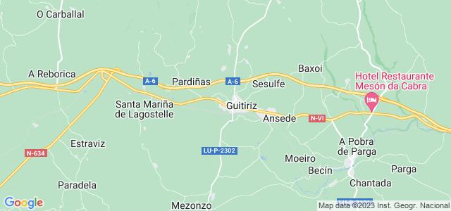 Mapa de Guitiriz