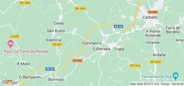 Mapa de Coristanco