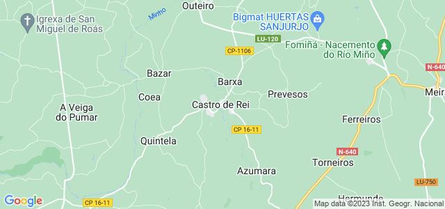 Mapa de Castro de Rei