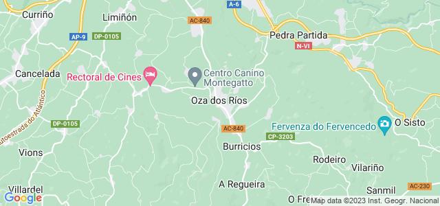 Mapa de Oza dos Ríos