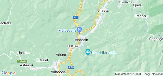 Mapa de Andoain