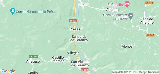 Mapa de Santiurde de Toranzo