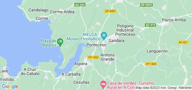 Mapa de Ponteceso