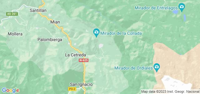 Mapa de Amieva