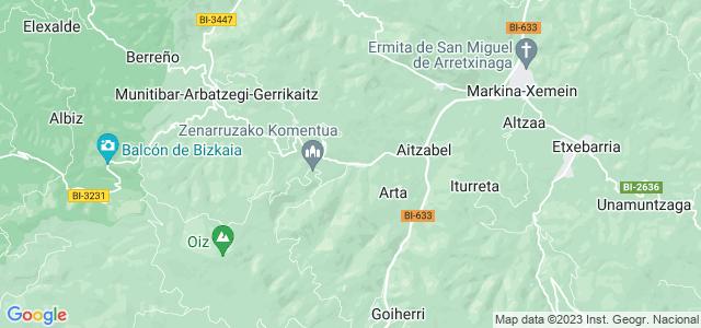 Mapa de Ziortza-Bolibar