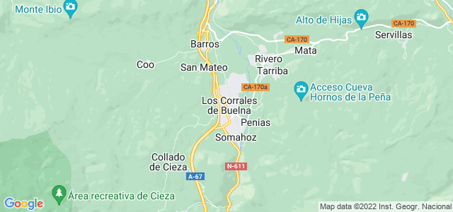 Mapa de Corrales de Buelna