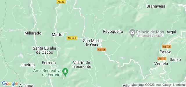 Mapa de San Martín de Oscos