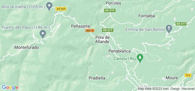 Mapa de Allande
