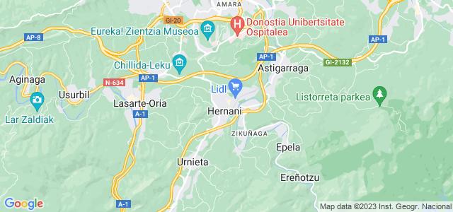 Mapa de Hernani