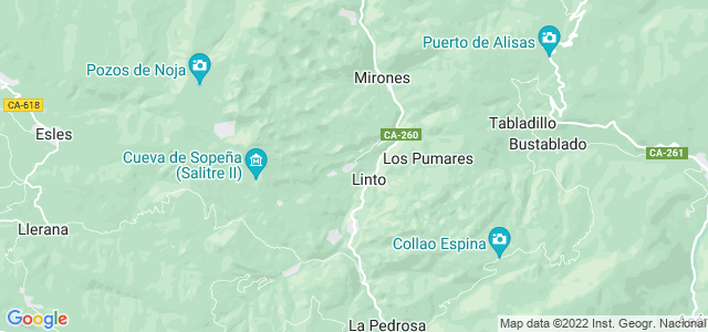 Mapa de Miera