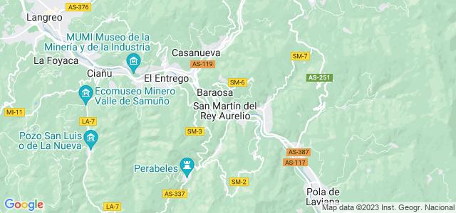 Mapa de San Martín del Rey Aurelio