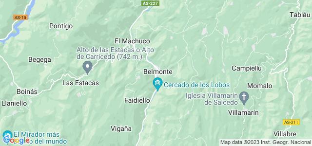 Mapa de Belmonte de Miranda