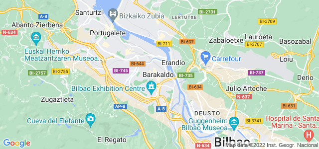 Mapa de Barakaldo