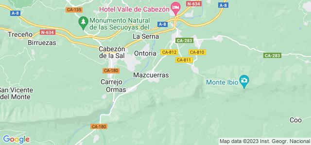 Mapa de Mazcuerras