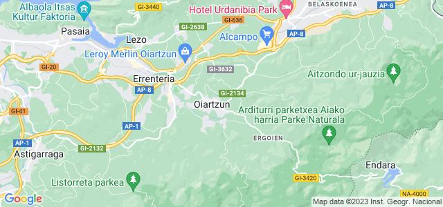 Mapa de Oiartzun
