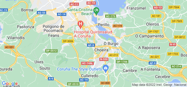 Mapa de Culleredo