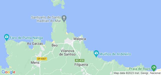 Mapa de Malpica de Bergantiños