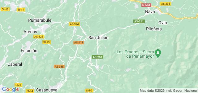 Mapa de Bimenes