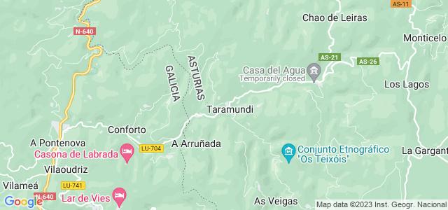 Mapa de Taramundi
