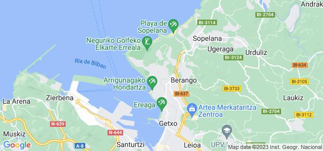 Mapa de Getxo