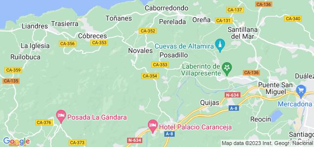 Mapa de Alfoz de Lloredo