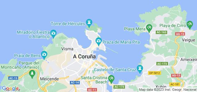 Mapa de Coruña