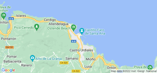 Mapa de Castro-Urdiales