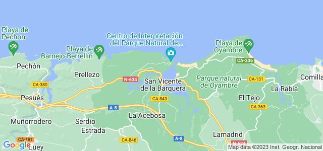 Mapa de San Vicente de la Barquera