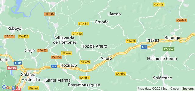 Mapa de Ribamontán al Monte