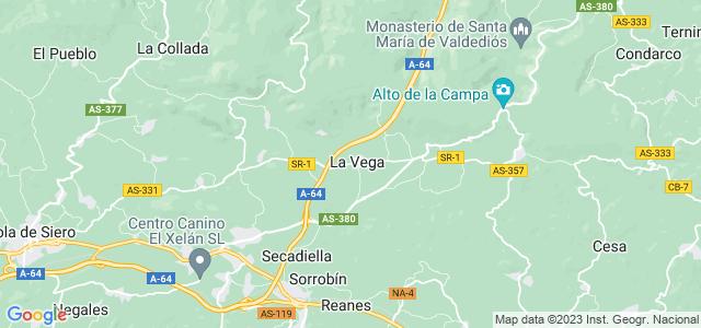 Mapa de Sariego