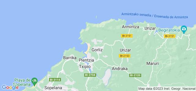 Mapa de Gorliz
