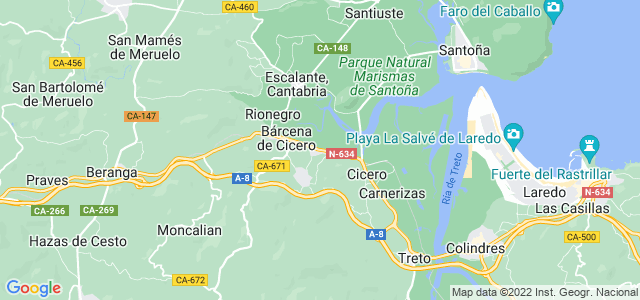 Mapa de Bárcena de Cicero