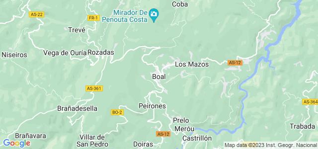 Mapa de Boal