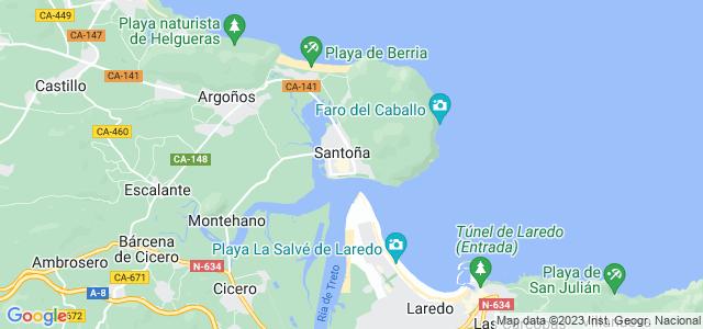 Mapa de Santoña