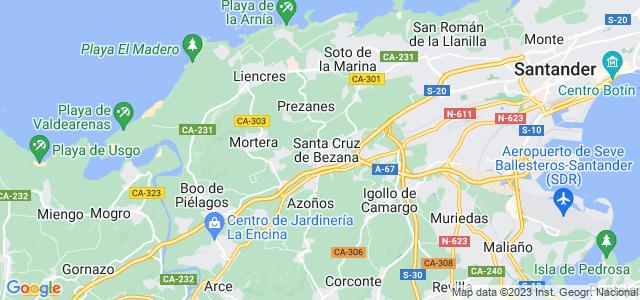 Mapa de Santa Cruz de Bezana