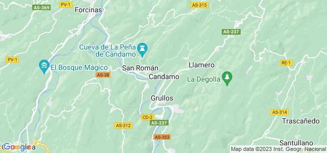 Mapa de Candamo