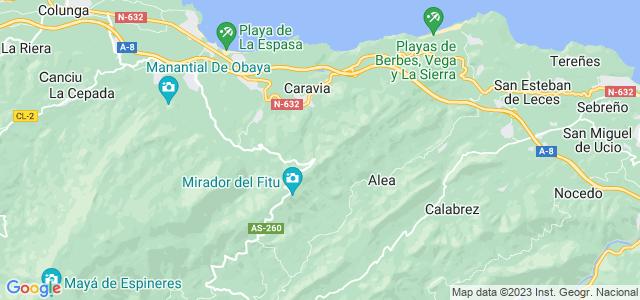 Mapa de Caravia