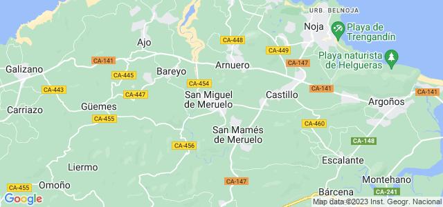 Mapa de Meruelo