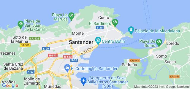 Mapa de Santander