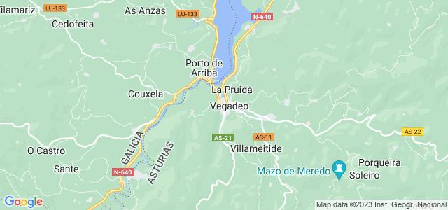 Mapa de Vegadeo